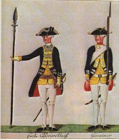 Hessian Mercenaries by British