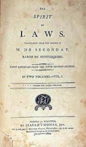 Charles Montesquieu's publication of The Spirit of the Laws