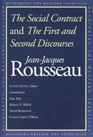 Rousseau writes the Second Discourse