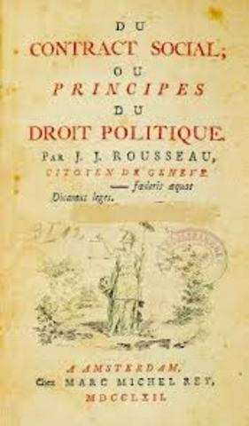Publication of The Social Contract by Rousseau