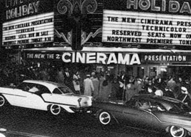 Primer espectáculo en Cinerama