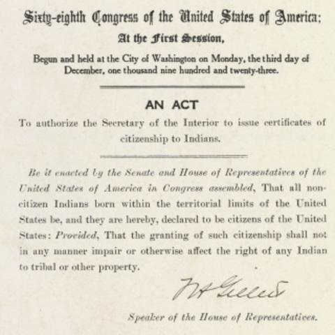 Indian Citzneship Act