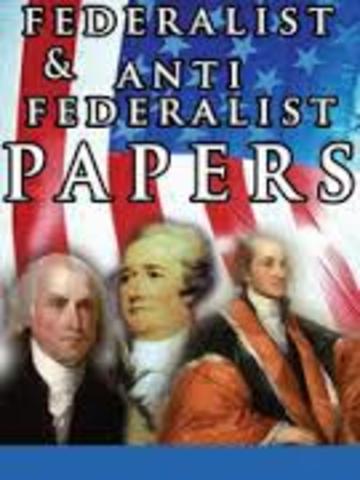 The Federalist and Anti Federalist debates