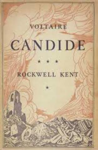 Publication of Volaires novel Candide