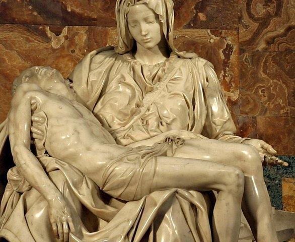 Michelangelo makes the Pieta