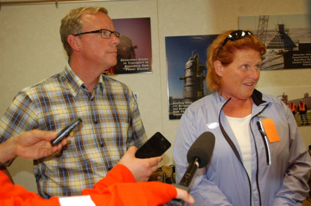 Brad Wall and North Dakota Senator Heidi Heitkamp Tour BD3