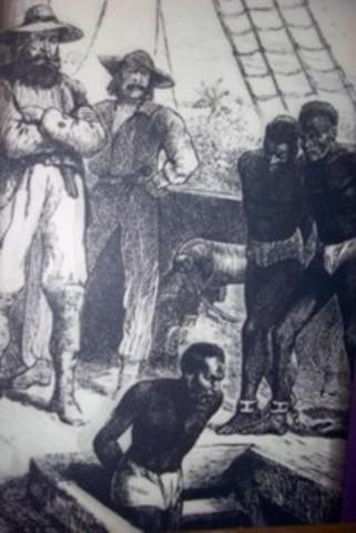 Slave-trading starts