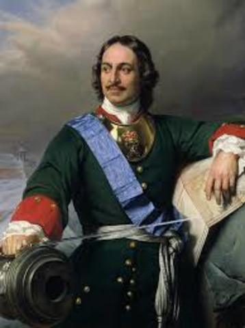Peter I (the Great) becomes Czar
