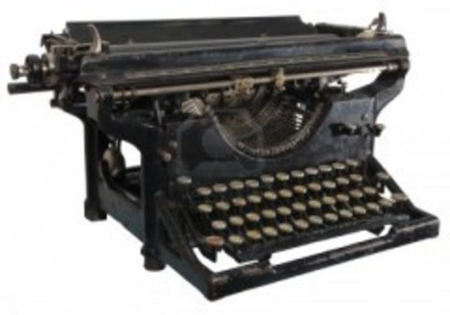 La primera maquina de escribir mecanica