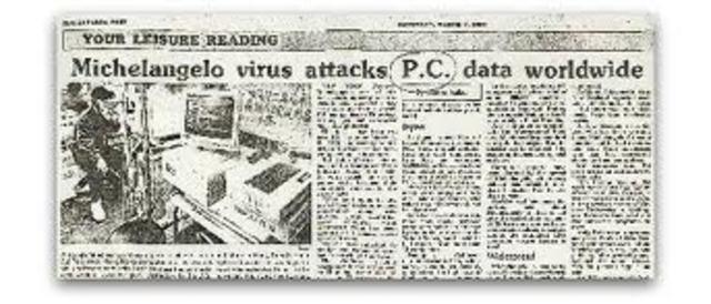 Primer virus que originó un frenesí en la prensa