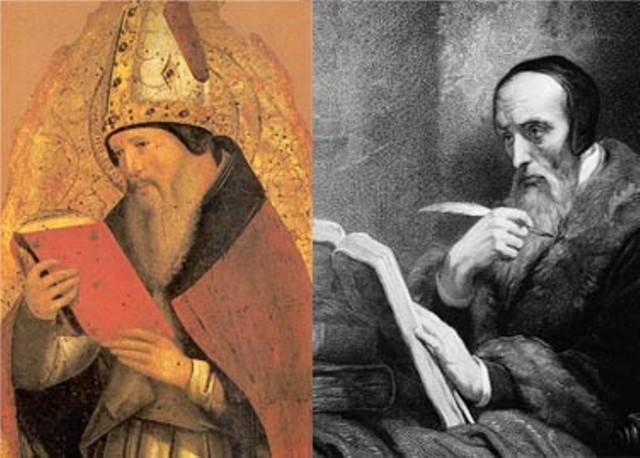 Agustín se adhiere al maniqueismo, tras la lectura del Hortensio, de Cicerón. Probable estancia en Tagaste.