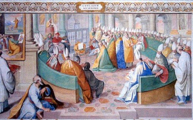 Concilio de Constantinopla, que supone la ratificación del concilio de Nicea