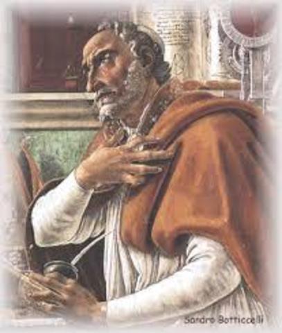 San Agustín se convierte al cristianismo