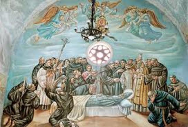 Muere San Agustín, en Hipona, que se encontraba sitiada por los vándalos de Genserico, y que posteriormente sería tomada y arrasada.