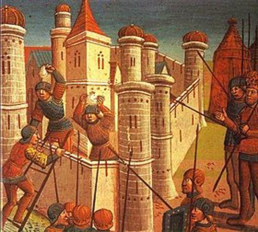 Constantinopla es sitiada por los árabes