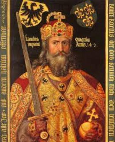 Carlomagno es el monarca de Francia