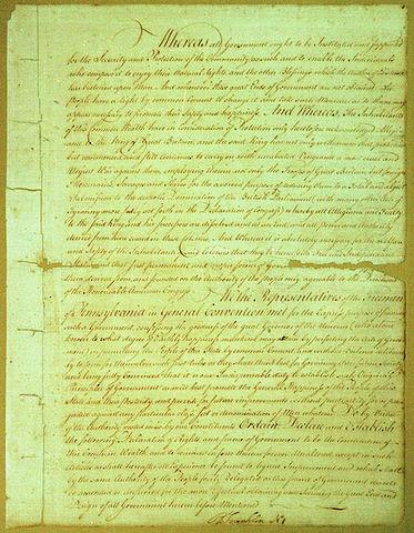 Pennsylvania Approves a Democratic Constitution