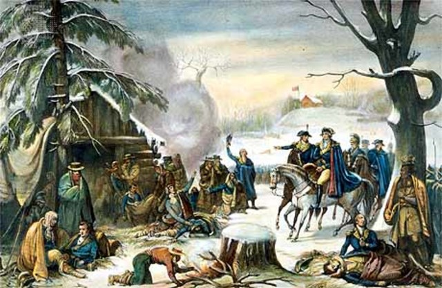 Washington settles at Valley Forge