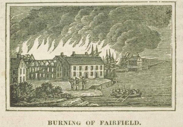 Fairfield and Norwalk, CT burned by British