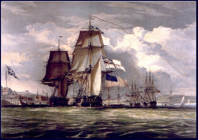 British drived out of the Chesapeake