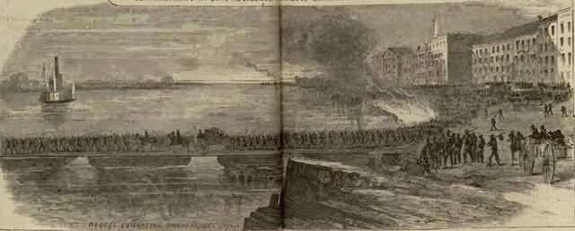British evacuate Savannah, GA