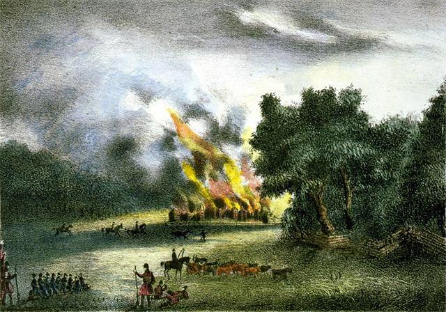 Burning of Indian Villages