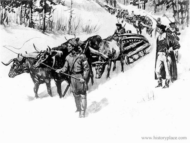 Patriots seize Fort Ticonderoga