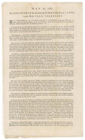 The Land Ordinance of 1785