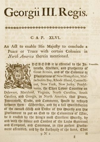 British Repeal Tea and Prohibitory Acts