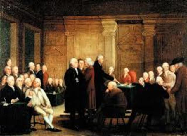Second Continental Congress Meeting- Declaration of Independence is created