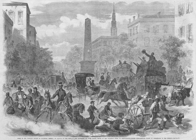 British occupation of Savannah