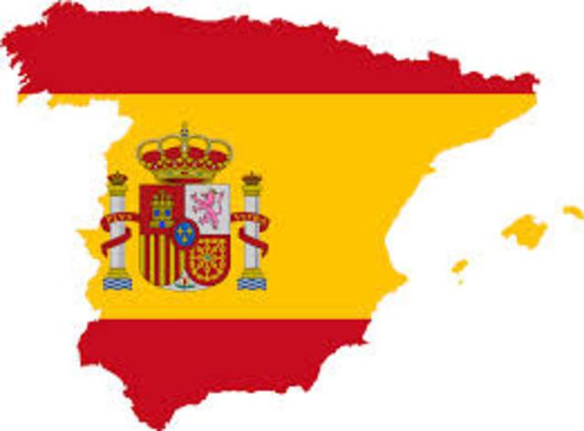 Spain declares war on Great britain