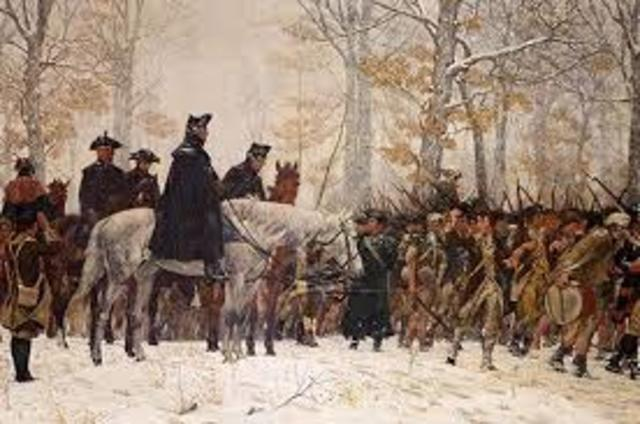 Washington leaves Valley Forge