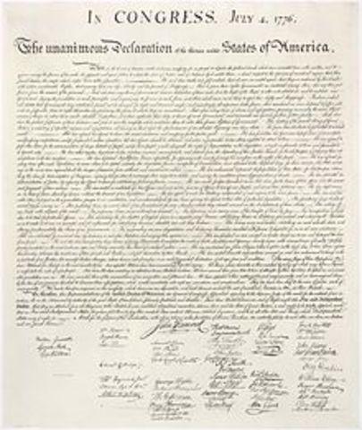 Congress Adopts Declaration of Independence