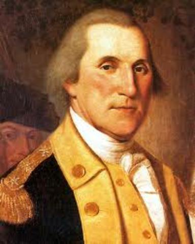 Second Continental Congress names George Washington Commander in Cheif of Continental army