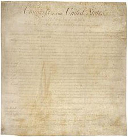 U.S Constiution Ratified