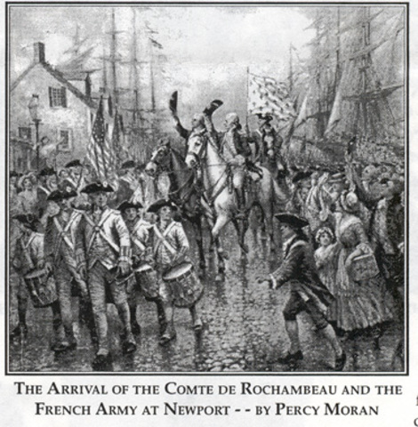 French Troops Arrive at Rhode Island