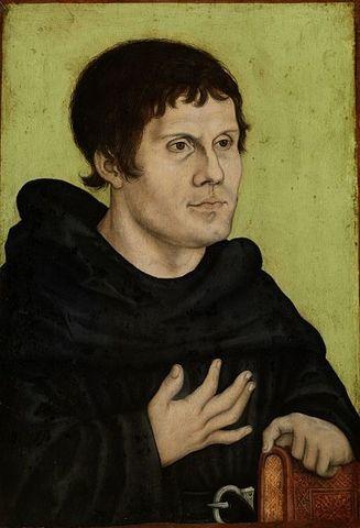 Martin Luther Enters Erfurt's Monastary