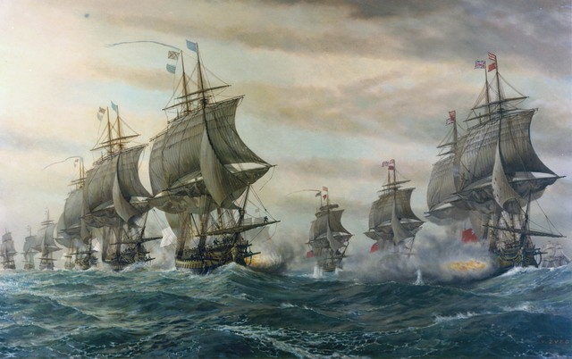 British naval force driven out of Chesapeake Bay