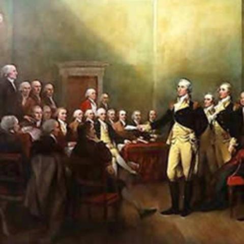 Washington Resigns as Commander