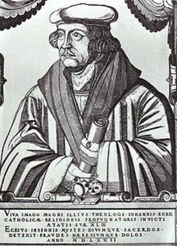 John Eck Debates Martin Luther's Points