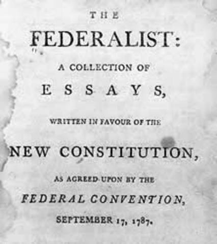 Federalist Papers written by James Madison, John Jay, and Alexander Hamilton