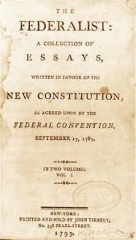 """The Federalist"" published"