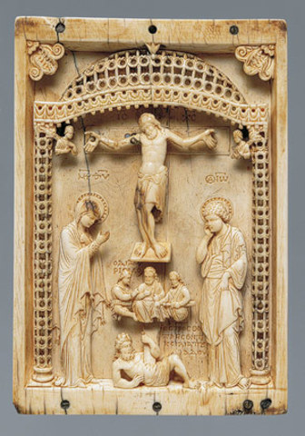 Plaque with the Crucifixion and the Defeat of Hades