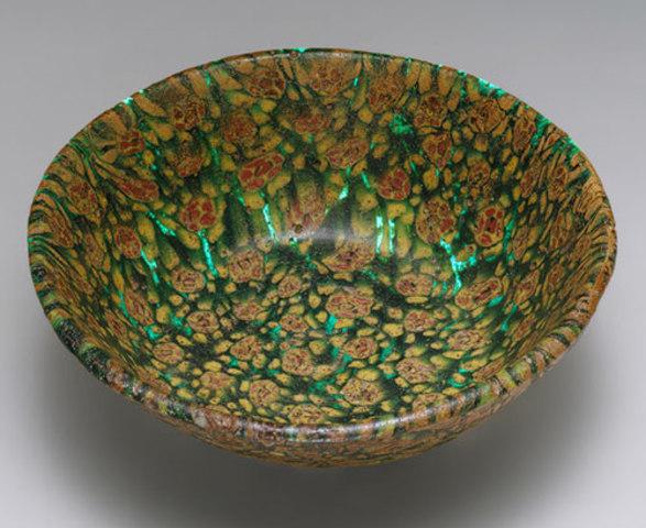 Bowl in millefiori technique