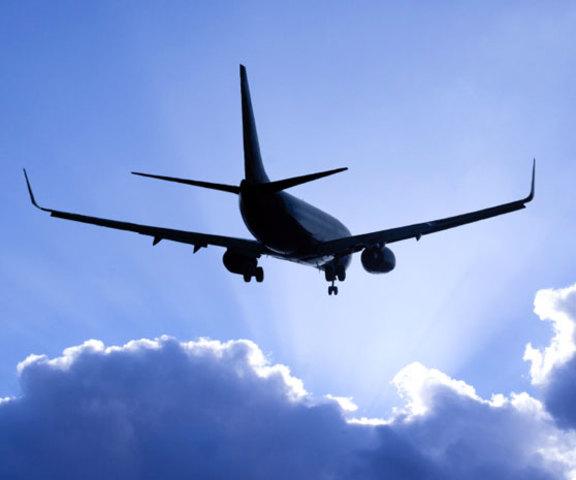 Viajando en avión