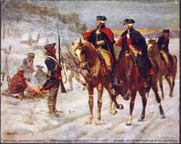 Winter Encampment at Valley Forge