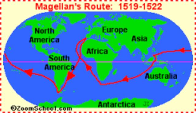 Magellan starts his around the world trip