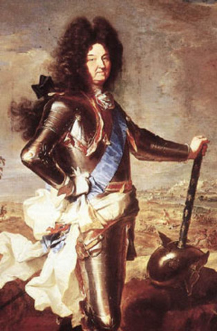 Louis XIV becomess king of France