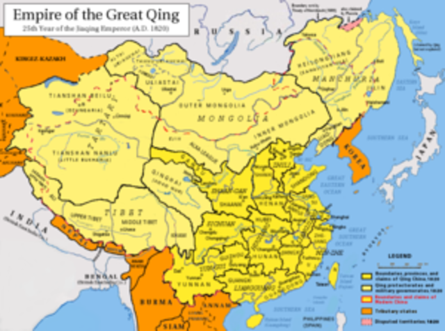 Qing Dynasty begins in China